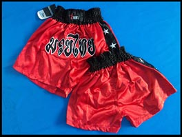 SHORT MUAY THAI BORDADO ACETINADO